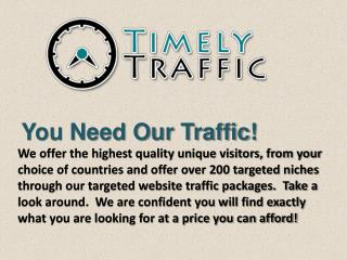 Buy cheap Website Traffic