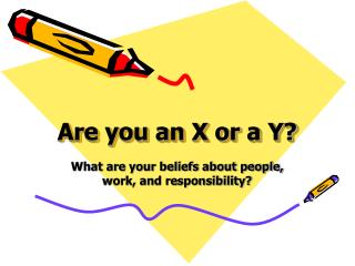Are you an X or a Y?