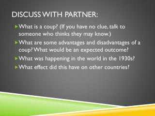 Discuss with partner: