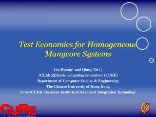 Test Economics for Homogeneous Manycore Systems