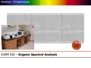 CHEM 430   Organic Spectral Analysis