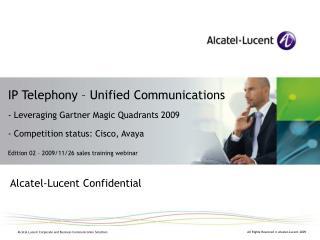 Alcatel-Lucent Confidential