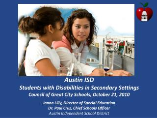 Austin ISD  Students with Disabilities in Secondary Settings