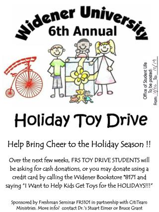 Help Bring Cheer to the Holiday Season !!