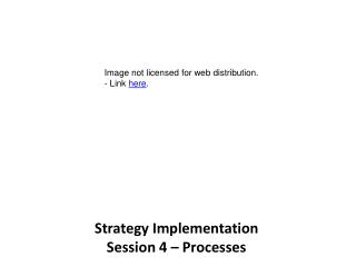 Strategy Implementation Session 4 – Processes