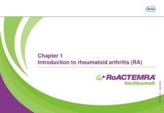 Chapter 1 Introduction to rheumatoid arthritis (RA)