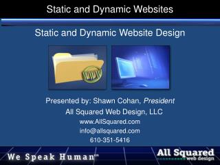 Static and Dynamic Websites
