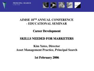 AIMSE 18 TH  ANNUAL CONFERENCE - EDUCATIONAL SEMINAR