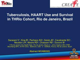 Tuberculosis, HAART Use and Survival in THRio Cohort, Rio de Janeiro, Brazil