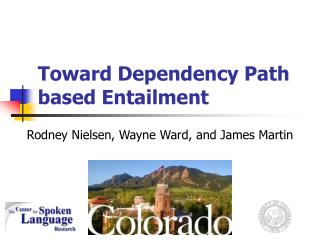Toward Dependency Path based Entailment