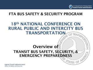FTA BUS SAFETY & SECURITY PROGRAM