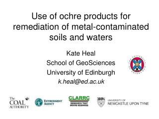 Use of ochre products for remediation of metal-contaminated soils and waters