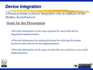 Device Integration