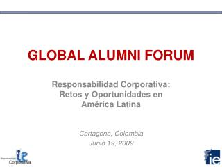 GLOBAL ALUMNI FORUM