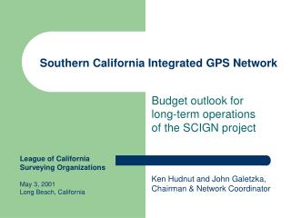 Southern California Integrated GPS Network