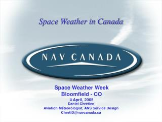 Space Weather in Canada