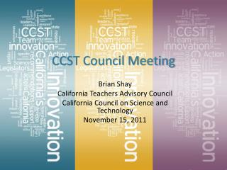 CCST Council Meeting