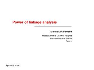 Power of linkage analysis