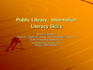 Public Library:  Information Literacy Skills