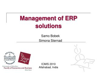 Management of ERP solutions