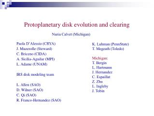 Protoplanetary disk evolution and clearing