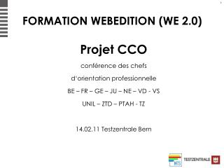 FORMATION WEBEDITION (WE 2.0)
