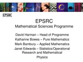 EPSRC Mathematical Sciences Programme