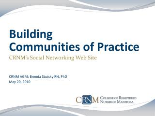 Building  Communities of Practice