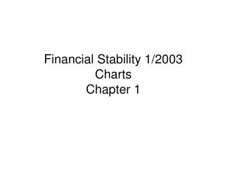 Financial Stability 1/2003 Charts Chapter 1
