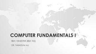 COMPUTER FUNDAMENTALS i