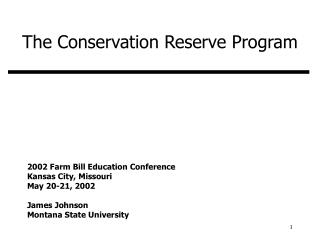 The Conservation Reserve Program