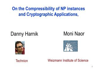 On the Compressibility of NP instances and Cryptographic Applications,