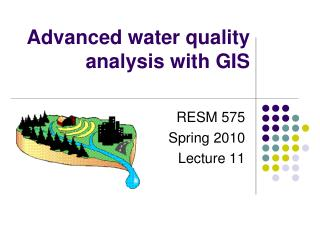 Advanced water quality analysis with GIS