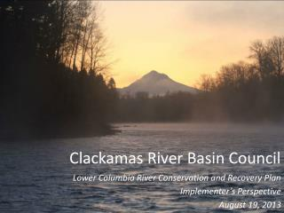 Clackamas River Basin Council