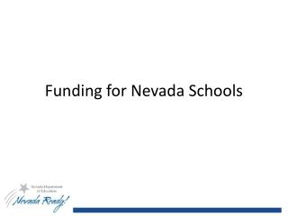 Funding for Nevada Schools