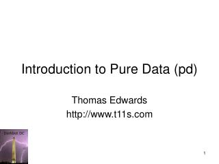 Introduction to Pure Data (pd)