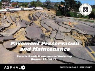 Pavement Preservation and Maintenance