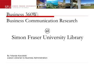 Business 360W: Business Communication Research