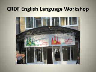 CRDF English Language Workshop