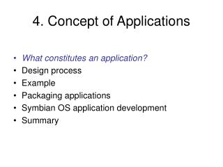 4. Concept of Applications