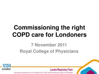 Commissioning the right COPD care for Londoners