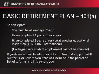 Basic Retirement Plan – 401( a )