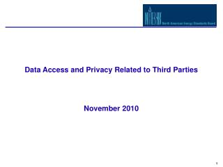 Data Access and Privacy Related to Third Parties  November 2010