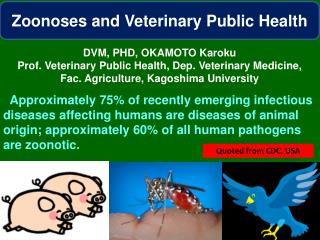 Zoonoses  and Veterinary Public  Health