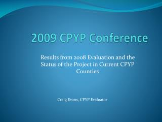 2009 CPYP Conference
