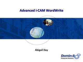 Advanced i-CAM WordWrite
