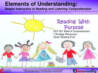 CEP 301 Week 8 Comprehension 1 Strategy Resources Texas Reading First