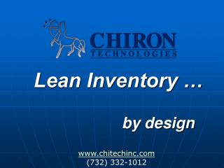 Lean Inventory … by design