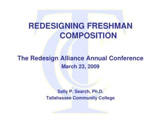 REDESIGNING FRESHMAN        COMPOSITION