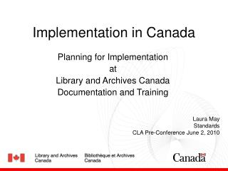 Implementation in Canada